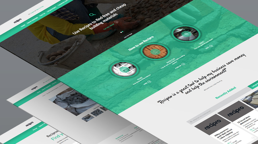 Responsive website developed to help the re-use of waste construction materials worth around £1.5bn
